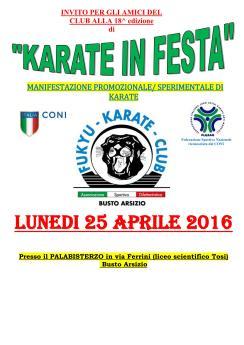 Karate in festa 2016